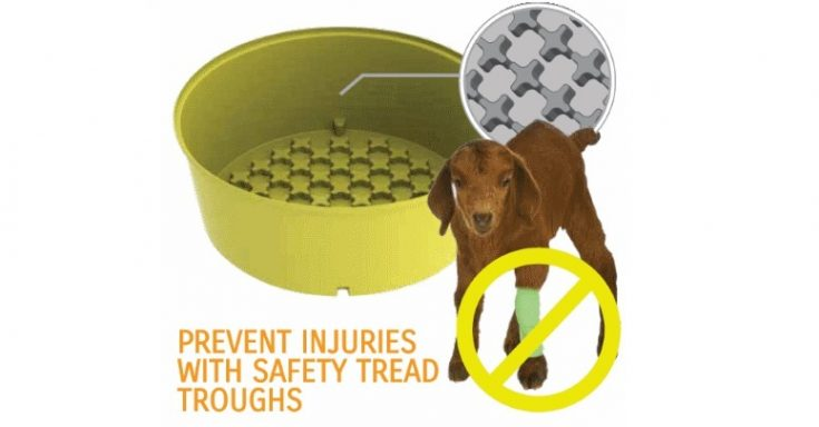 Our patented safety tread troughs